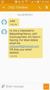 the daily scam  2 care com scam text 2