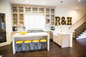 Contemporary Style Kitchen Cabinets Enchanting Yellow Barstools Contemporary Kitchen Amy Berry Design