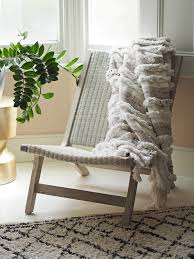moroccan garden furniture. Outdoor Furniture Indoors - French For Pineapple Blog Wicker And Teak Chair With Moroccan Throw Garden