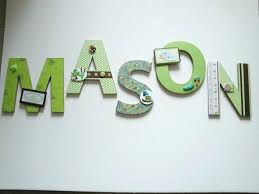 wood letters for nursery baby wooden wall art boy room ideas girl personalized