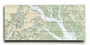 Details About Longshore Tides Sc Beaufort Sc Nautical Chart Sign Graphic Art Print On Wood