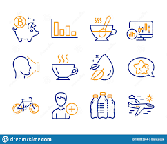 Tea Star Chart Star Bicycle And Tea Cup Icons Set Coffee Bitcoin Coin