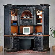 captivating computer corner desk with hutch shell intricate carvings living room corner computer desk with hutch r56