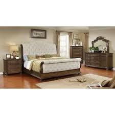Esofastore Modern Antique Weathered Oak Finish 4pc Bedroom Set Queen Size  Bed Nightstand Dresser U0026 Mirror