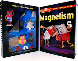 amazon sciencewiz magnetism experiment kit and book 22 experiments magnetism penny ph d norman art huff lynn beckstrom toys games