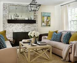 taupe brick fireplace design ideas
