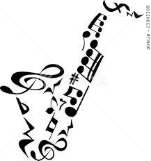 サックス音符のイラスト素材 23041308 Pixta