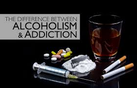 what is the difference between alcoholism and addiction