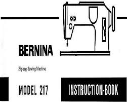 Sewing Machine Bernina 217