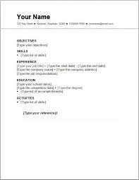 simple resume format download in word document best curriculum this is a sample of basic resume