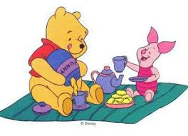 Image result for clip art pooh bear tea party