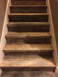 Painted Wood Stairs Rough Cut Untreated Pine Then Painted And Stained Love The Way
