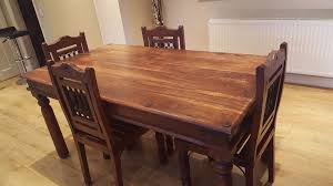 indian rosewood sheesham dining table and 4 chairs