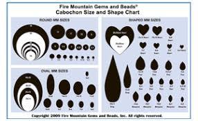 Oval Gemstone Size Chart Chart Cabochon Size And Shape Chart Fire Mountain Gems