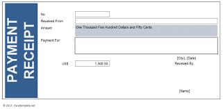 Paid Receipt Form Payment Receipt Excel Templates 12
