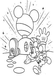 Mickey Mouse Clubhouse Coloring Pages To Print Mickey Mouse Color