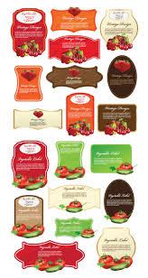 Food Product Label Design Template 17 Label Template Vector Images Food Label Design Template