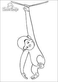 Curious George Coloring Pages Free For Kids Get Coloring Page