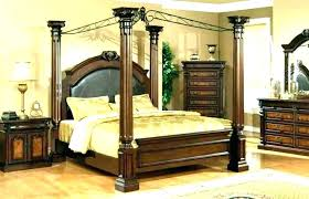 Queen Wood Canopy Bed Black Wood Canopy Bed Twin Full Queen Ceiling ...