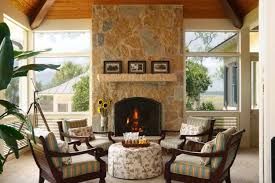 screened in porch with fireplace. Screened Porch Design Ideas-01-1 Kindesign In With Fireplace T