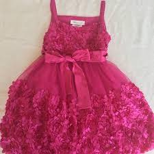Bonnie Jean Dark Pink Net Dress Girls 3t Size Nwt