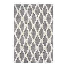 allen roth barrbridge grey white indoor area rug common 8 x 10