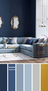 shades of blue and grey living room