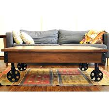 industrial coffee table with wheels coffee table reclaimed wood industrial cart wheels coffee table rustic coffee