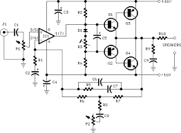bass circuit diagram the wiring diagram 10w audio amplifier bass boost circuit diagram circuit diagram