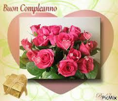 Scheda di buon compleanno con i fiori immagine stock. Mazzo Di Fiori Tanti Auguri