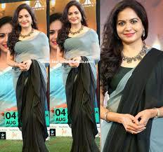 Designer The Singer Singer Sunitha In A Designer Saree Fashionworldhub