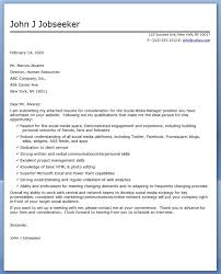 Cover Letter Sample For Supervisor Position Social Media Manager Cover Letter