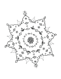 Snowflake Mandala Coloring Pages Free Coloring Pages Of Snowflakes