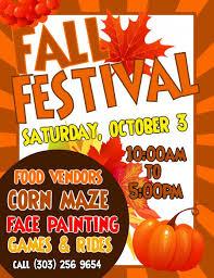 Fall Festival Flier 30 Fall Festival Flyer Template Simple Template Design