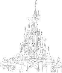 700x825 disneyland paris castle line art by on