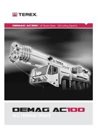 Demag Ac 100 Load Chart Terex Demag Ac 100 Specifications Cranemarket