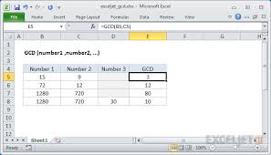 Greatest Common Factor Chart Printable How To Use The Excel Gcd Function Exceljet