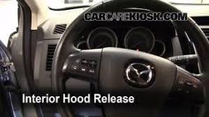 interior fuse box location 2007 2015 mazda cx 9 2009 mazda cx 9 open hood how to 2007 2015 mazda cx 9