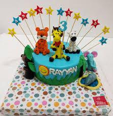 Jungle Animals Kids Birthday Cake Customized Cakes In Lahore