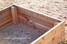 building a garden box. How To Build Raised Garden Boxes Super Easy Diy Bed Ponderings From My Building A Box P