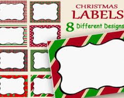 Holiday Name Christmas Labels Holiday Labels Printable Editable Holiday
