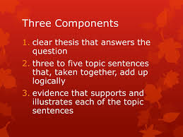 the quality history essay three components clear thesis that  three components clear thesis that answers the question three to five topic