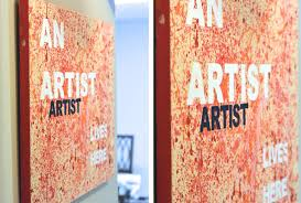 splash art canvas splattered with paint
