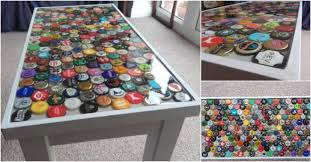 bottle cap furniture.  furniture diy furniture projects are super cool no matter you build something from  ground up or transform an old piece get a new piece of that can  in bottle cap furniture