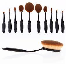 paddle brush makeup. professional paddle make up brush set - 10 piece makeup m