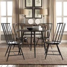 create a cal and elegant dining area with the addition of thishigh back windsor side chair set from inspire q the durablepowder coated frame is painted