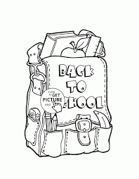 Small Picture Backpack Coloring Page Back To School For With glumme