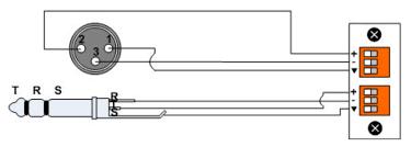 balanced trs wiring data wiring diagrams \u2022 trrs wiring diagram wiring audio inputs and outputs biamp systems rh support biamp com balanced trs wiring diagram 1 4\
