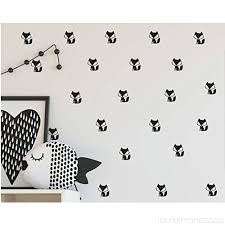 36 set cute fox wall decal kids room