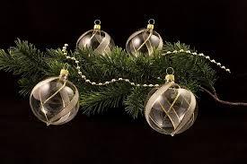 4 Große Weihnachtsbaumkugeln 10cm Transparent Gold Gst Original Lauschaer Christbaumschmuck